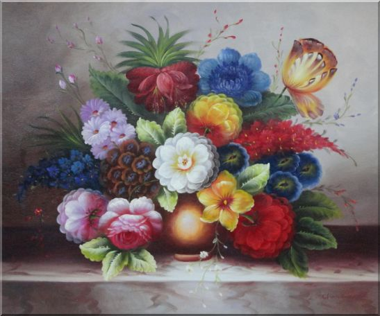 Still Life of Flowers in a  Ceramic Vase StillLife,Flower Classic Oil Painting  20 x 24 inches