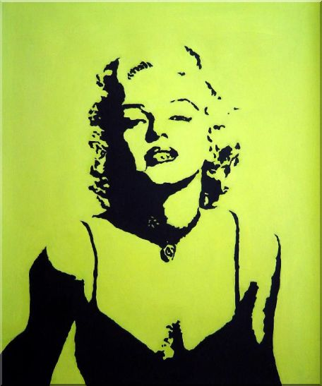 Marilyn Monroe America,Portraits,Celebrity,Woman Pop-Art Oil Painting  24 x 20 inches