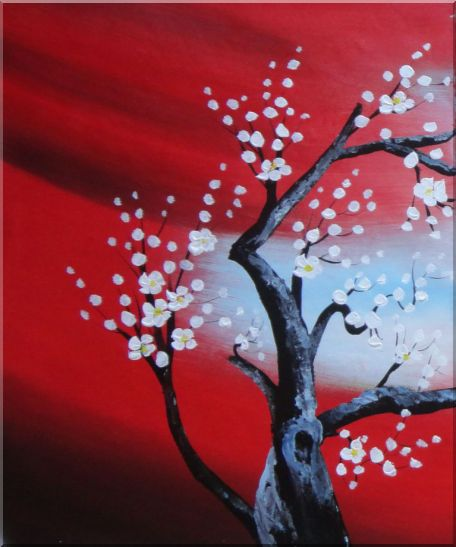 Blooming Plum Tree - 3 Canvas Set Flower,3-Canvas-Set Asian  24 x 60 inches