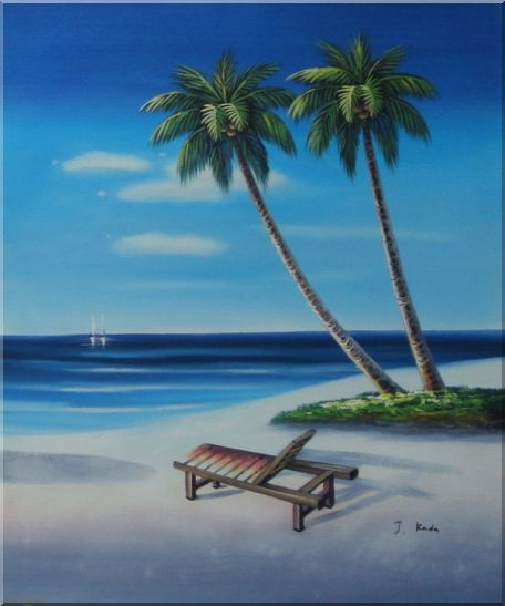 Getaway at  Beach Side - 3 Canvas Set Seascape,3-Canvas-Set Contemporary  24 x 60 inches