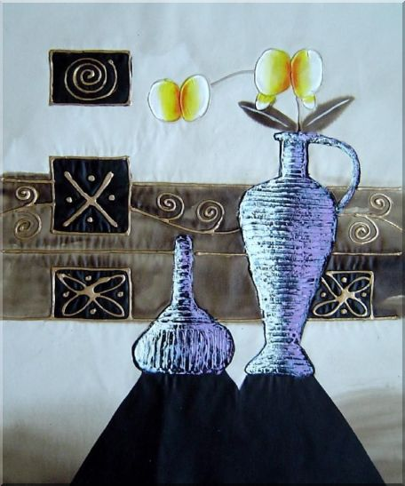 Flowers in Vases  - 3 Canvas Set StillLife,Flower,3-Canvas-Set Contemporary  24 x 60 inches