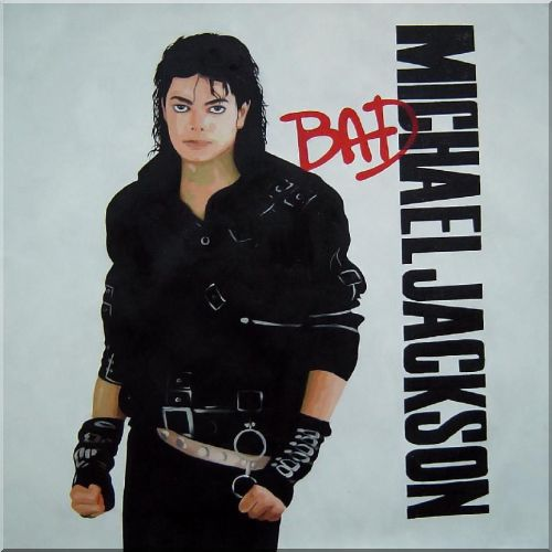 Michael Jackson America,Portraits,Celebrity Pop-Art Oil Painting  24 x 24 inches
