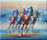 Horse Racing Oil Painting  20 x 24 inches