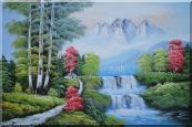 Water from Snow Mountain Oil Painting  24 x 36 inches