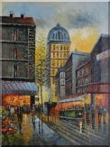 New York Busy City Street in Dawn Oil Painting  48 x 36 inches