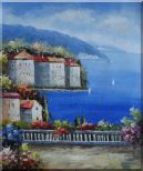 Mediterranean Paradise Oil Painting  24 x 20 inches