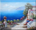 Favorite Mediterranean Garden Steps Oil Painting  20 x 24 inches