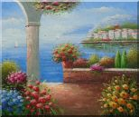 Paradise By Mediterranean Sea Oil Painting  20 x 24 inches