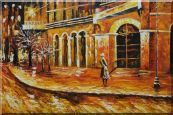 At the Hall  Gate Oil Painting  24 x 36 inches