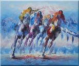 Horse Racing Galloping Oil Painting  20 x 24 inches