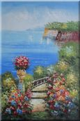 Steps by the Bay Oil Painting  36 x 24 inches
