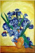 Vase of Irises, Van Gogh Masterpieces Reproduction Oil Painting  36 x 24 inches