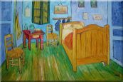 The Bedroom in Arles, Van Gogh Replica   Oil Painting  24 x 36 inches