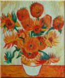 Sunflowers, Van Gogh  Reproduction Oil Painting  24 x 20 inches