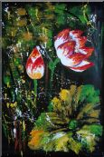 Opening Lotus Abstract Oil Painting Oil Painting  36 x 24 inches