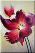 Blooming Purple Flowers Oil Painting  36 x 24 inches