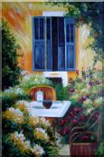 A Charming Backyard Oil Painting Oil Painting  36 x 24 inches