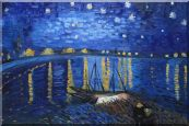 Starry Night Over the Rhone, Van Gogh replica Oil Painting  24 x 36 inches