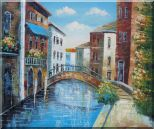 Serene Summer Afternoon in Italian Venice Oil Painting  20 x 24 inches