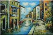 Serene Summer Afternoon in Italian Venice Oil Painting  24 x 36 inches