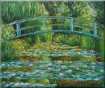 Waterlilies and Japanese Bridge, Monet Oil Painting  20 x 24 inches