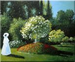 Lady in a Gardern, Monet Replica Oil Painting  20 x 24 inches