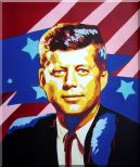 President John F. Kennedy Oil Painting  24 x 20 inches