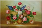 Still Life of Colorful Flowers Oil Painting  24 x 36 inches