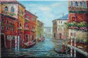 "Italian Love Story at Venice Oil Painting 24""x36"""