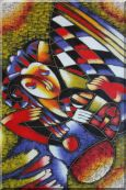 Girl Play Guitar, Picasso Reproduction Oil Painting  36 x 24 inches