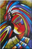 Girl Face, Picasso Reproduction Oil Painting  36 x 24 inches