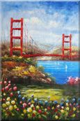 San Francisco Golden Gate Bridge Oil Painting  36 x 24 inches