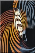 Colorful Modern Zebra I Oil Painting  36 x 24 inches