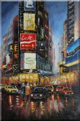 New York Time Square Street Scene Oil Painting  36 x 24 inches
