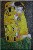 The Kiss, Gustav Klimt Replica Oil Painting  36 x 24 inches