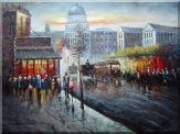 Washington D. C  Street Scene Oil Painting  36 x 48 inches