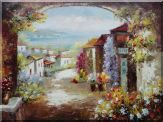Mediterranean Dream Archway Oil Painting  36 x 48 inches