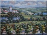 European Orchards, Italy Vineyard Village, Wildness,Sunshine Oil Painting  36 x 48 inches