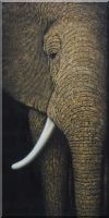 Large African Elephant Head I Oil Painting  48 x 24 inches