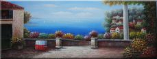 Large Size Mediterranean Resort Painting Oil Painting  24 x 63 inches