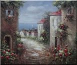 Flower Path to Seaside Oil Painting  20 x 24 inches