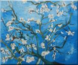 Branches of Almond Tree in Blossom, Van Gogh Reproduction Oil Painting  20 x 24 inches