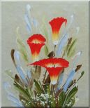 Scarlet Calla Lily Oil Painting  24 x 20 inches