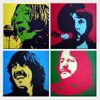 The Beatles - 4 Canvas Set  48 x 48 inches
