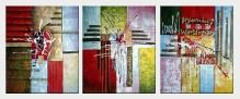 Urban World - 3 Canvas Set  24 x 60 inches
