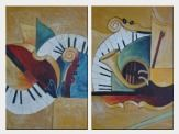 Musical Instruments - 2 Canvas Set  36 x 48 inches