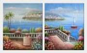 Mediterranean Dream - 2 Canvas Set  24 x 40 inches