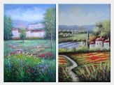 Tuscan Pleasures - 2 Canvas Set  36 x 48 inches