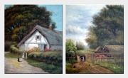 Village Lifes - 2 Canvas Set  24 x 40 inches