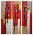 A Gentleman's Courting of a Lady - 3 Canvas Set  40 x 36 inches